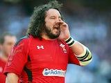 Adam Jones in action for Wales in March 2014