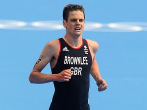 Jonny Brownlee competing for Team GB in 2012