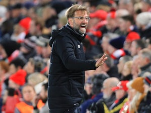 Jurgen Klopp in action during the Champions League quarter-final game between Liverpool and Manchester City on April 4, 2018