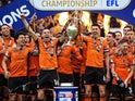 Wolverhampton Wanderers celebrate winning the Championship on April 28, 2018