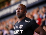 West Bromwich Albion caretaker manager Darren Moore watches on during his side's Premier League clash with Tottenham Hotspur on May 5, 2018