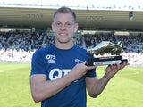 Matej Vydra poses with the Championship golden boot for the 2017-18 season