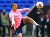 Antoine Griezmann in training ahead of the Europa League final on May 15, 2018