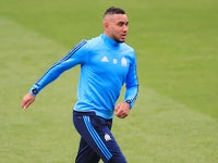 Dimitri Payet in Marseille training ahead of the Europa League final on May 15, 2018