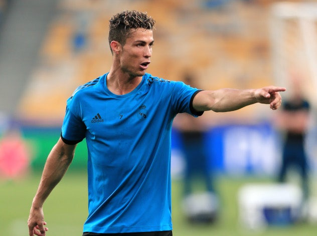 Cristiano Ronaldo trains with Real Madrid ahead of the Champions League final