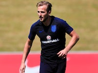 Harry Kane during an England training session on May 22, 2018