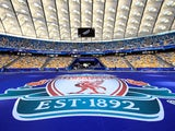 A view inside Kiev's NSC Olimpiyskiy Stadium ahead of the Champions League final between Liverpool and Real Madrid on May 26, 2018