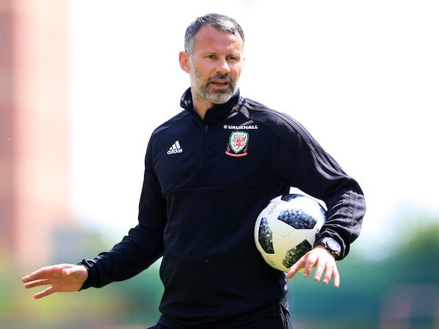 Ryan Giggs leads a Wales training session on May 21, 2018