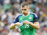 Aaron Hughes in action for Northern Ireland at Euro 2016