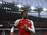 Arsenal winger Alex Iwobi in action during his side's Premier League clash with Crystal Palace in January 2018