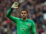 Alex McCarthy in action for Southampton on March 31, 2018