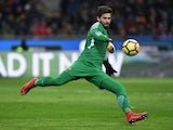 Alisson Becker in action for Roma on January 21, 2018