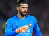 Alisson in action for Roma against Liverpool in the Champions League on April 24, 2018