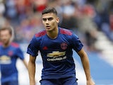 Andreas Pereira in action for Manchester United in July 2016