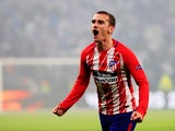 Atletico Madrid forward Antoine Griezmann celebrates after scoring the 2018 Europa League final on May 16, 2018