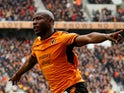 Benik Afobe in action for Wolverhampton Wanderers on April 15, 2018