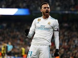 Real Madrid's Borja Mayoral in action during a Champions League clash with Borussia Dortmund on December 6, 2017