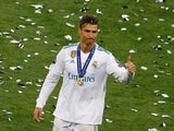 Real Madrid forward Cristiano Ronaldo celebrates after helping his side to victory in the 2018 Champions League final in Kiev