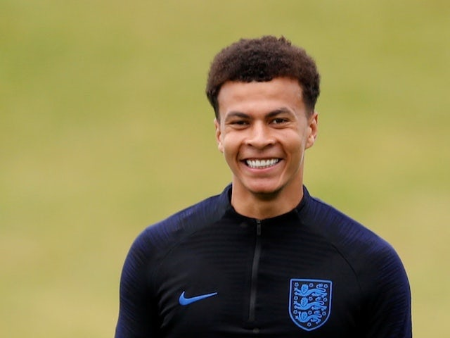 England and Tottenham Hotspur midfielder Dele Alli in training ahead of the 2018 World Cup