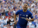 Chelsea winger Eden Hazard in action during the FA Cup final with Manchester United on May 19, 2018