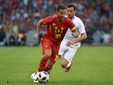 Eden Hazard in action during the international friendly between Belgium and Portugal on June 2, 2018