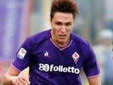 Federico Chiesa in action for Fiorentina on April 29, 2018