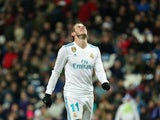 Gareth Bale in action for Real Madrid on February 10, 2018