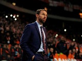 England manager Gareth Southgate watches on during the international friendly against Netherlands on March 23, 2018