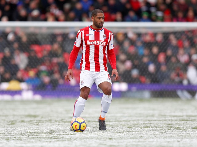 Stoke City's Glen Johnson in action against Everton on March 17, 2018