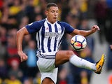 Jake Livermore in action for West Bromwich Albion on September 30, 2017