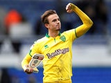 Norwich City's James Maddison celebrates after the final whistle of the game against Ipswich Town on October 22, 2017