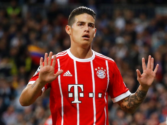 Real Madrid Midfielder James Rodriguez To Remain On Loan At Bayern Munich Sports Mole