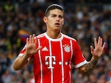 James Rodriguez in action for Bayern Munich on May 1, 2018