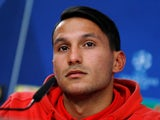 Joao Carvalho of Benfica in a Champions League press conference on December 4, 2017