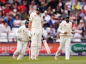 Joe Root is bowled out on the second day of the second Test between England and Pakistan on June 2, 2018