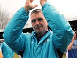 John Askey celebrates winning the National League with Macclesfield Town on April 28, 2018