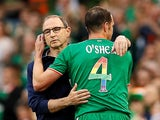 John O'Shea leaves the field during the international friendly between the Republic of Ireland and the USA on June 2, 2018