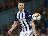 Jonny Evans in action for the doomed West Bromwich Albion on January 27, 2018