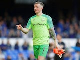 Jordan Pickford in action for Everton on May 5, 2018