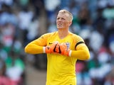England goalkeeper Jordan Pickford in action during the international friendly with Nigeria at Wembley on June 2, 2018