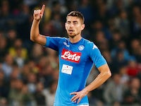 Jorginho in action for Napoli on October 21, 2017