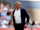 Manchester United manager Jose Mourinho patrols the touchline during the 2018 FA Cup final against Chelsea at Wembley