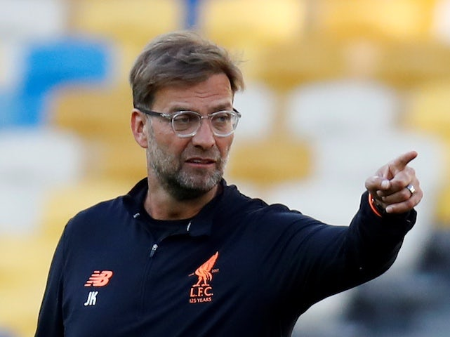 Liverpool manager Jurgen Klopp in action prior to the 2018 Champions League final in Kiev