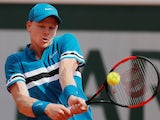 Kyle Edmund in action at the French Open on June 2, 2018