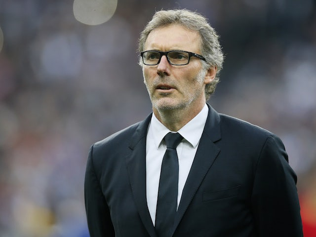 Laurent Blanc in charge of Paris Saint-Germain in May 2016