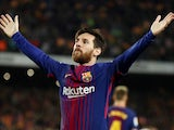 Barcelona forward Lionel Messi in action during the La Liga clash with Real Madrid on May 6, 2018