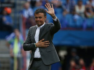 Luis Enrique in charge of Barcelona on May 27, 2017