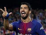Barcelona forward Luis Suarez in action during his side's La Liga match against Real Madrid on May 6, 2018