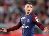 Marco Verratti in action for PSG on March 31, 2018