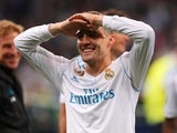 Mateo Kovacic celebrates after winning the Champions League final with Real Madrid on May 26, 2018